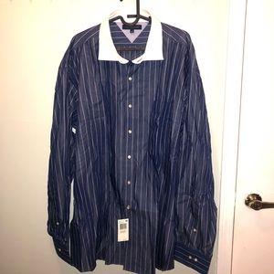 Tommy Hilfiger Dress shirt NWT strip sz 18 36-37